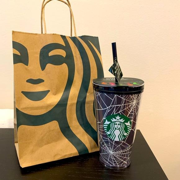 Starbucks halloween spiderweb tumbler 16oz